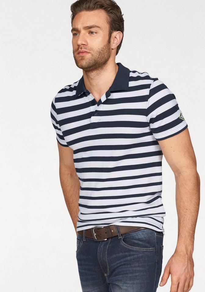 Rhode Island Poloshirt Piqué-Qualität in marine-weiß