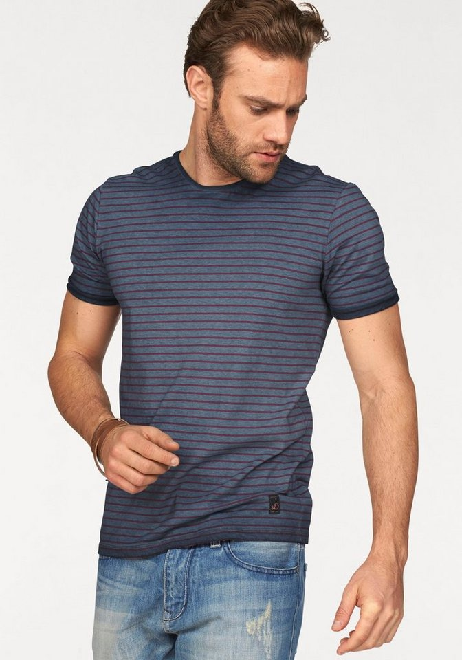 s.Oliver RED LABEL T-Shirt in navy-rot-gestreift