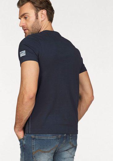 Rhode Island T-Shirt, Mehrfarbiger Print