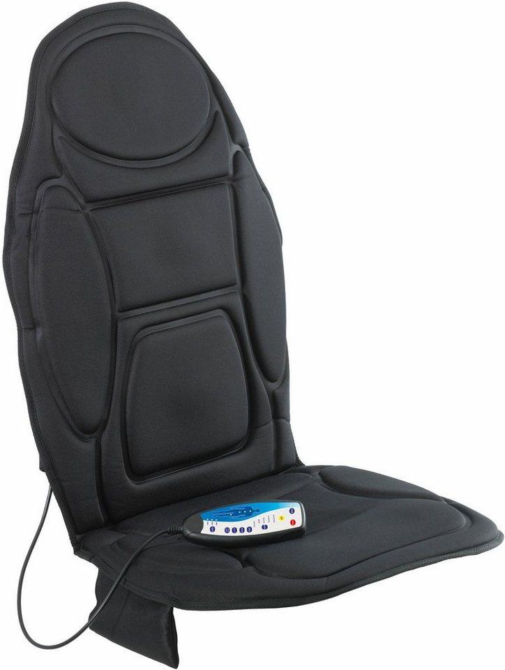 Vitalmaxx Massagematte 5-Zonen Sessel oder Stuhl 12V, mit Wärmefunktion + Autoadapter in schwarz