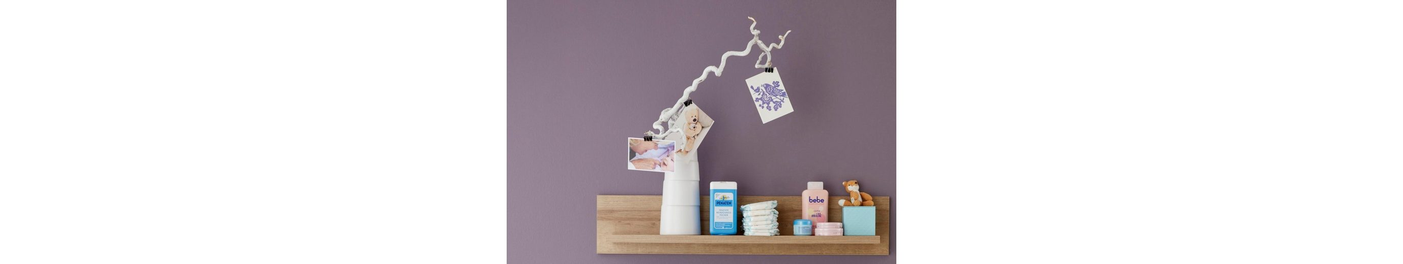 Wandregal / Wandboard passend zur Babymöbelserie »Berlin« in eiche NB