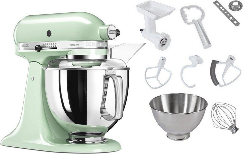 KitchenAid® Küchenmaschine 5KSM175PSEPT Artisan, inkl. Sonderzubehör im Wert von ca. 214,-€ in pistazie