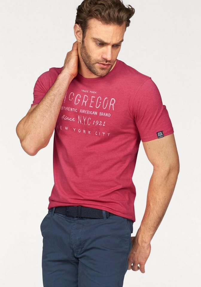 McGREGOR NEW YORK 1921 T-Shirt in rot