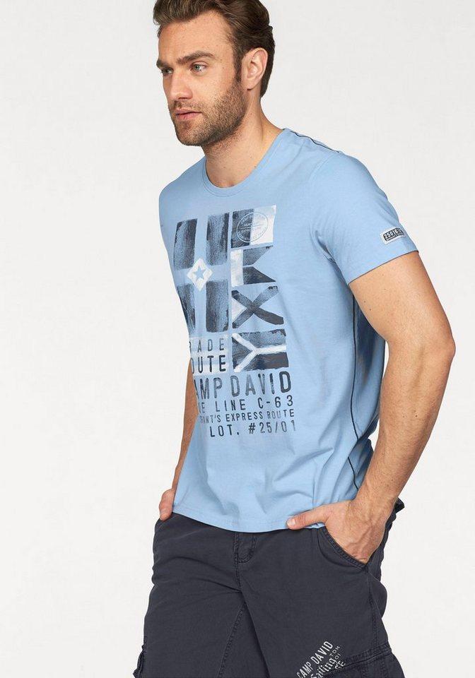 CAMP DAVID T-Shirt in hellblau