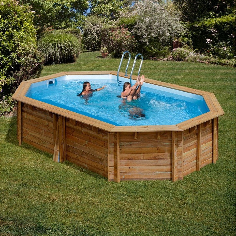 Gre ovalpool canelle b l h 303 503 116 cm 6 tlg for Otto pool oval