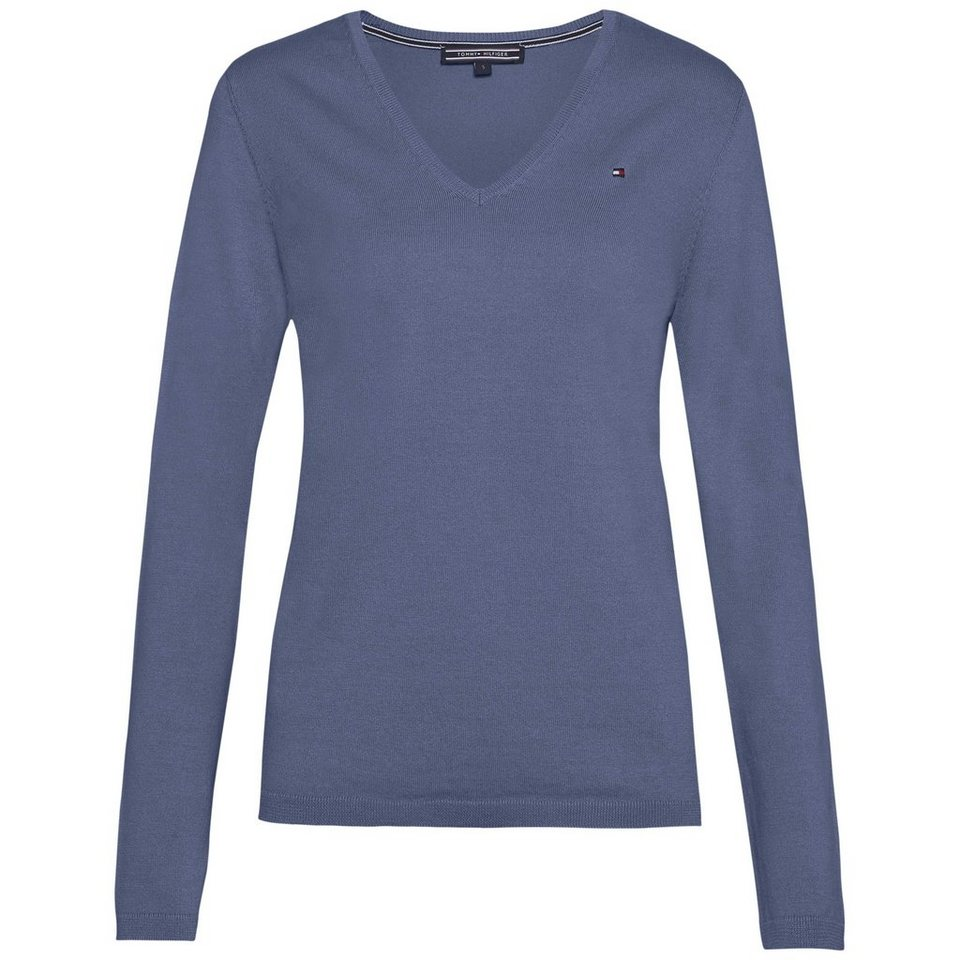 Tommy Hilfiger Pullover »NEW IVY V-NK SWTR« in FOLKSTONE GREY