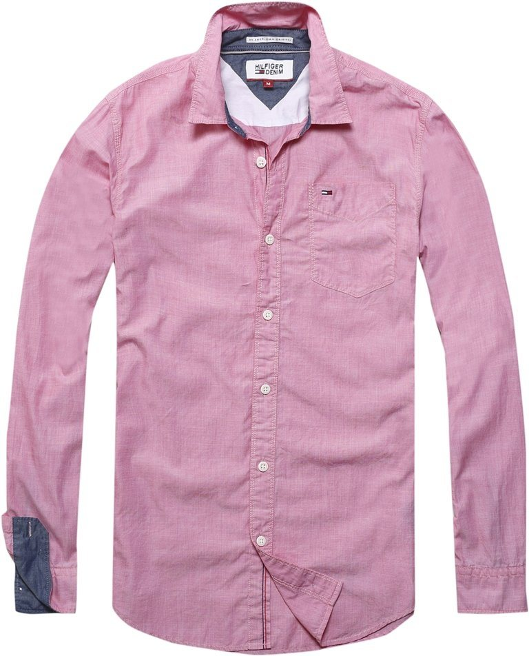 Hilfiger Denim Hemd »THDM BASIC SOLID SHIRT L/S 38« in RASPBERRY WINE