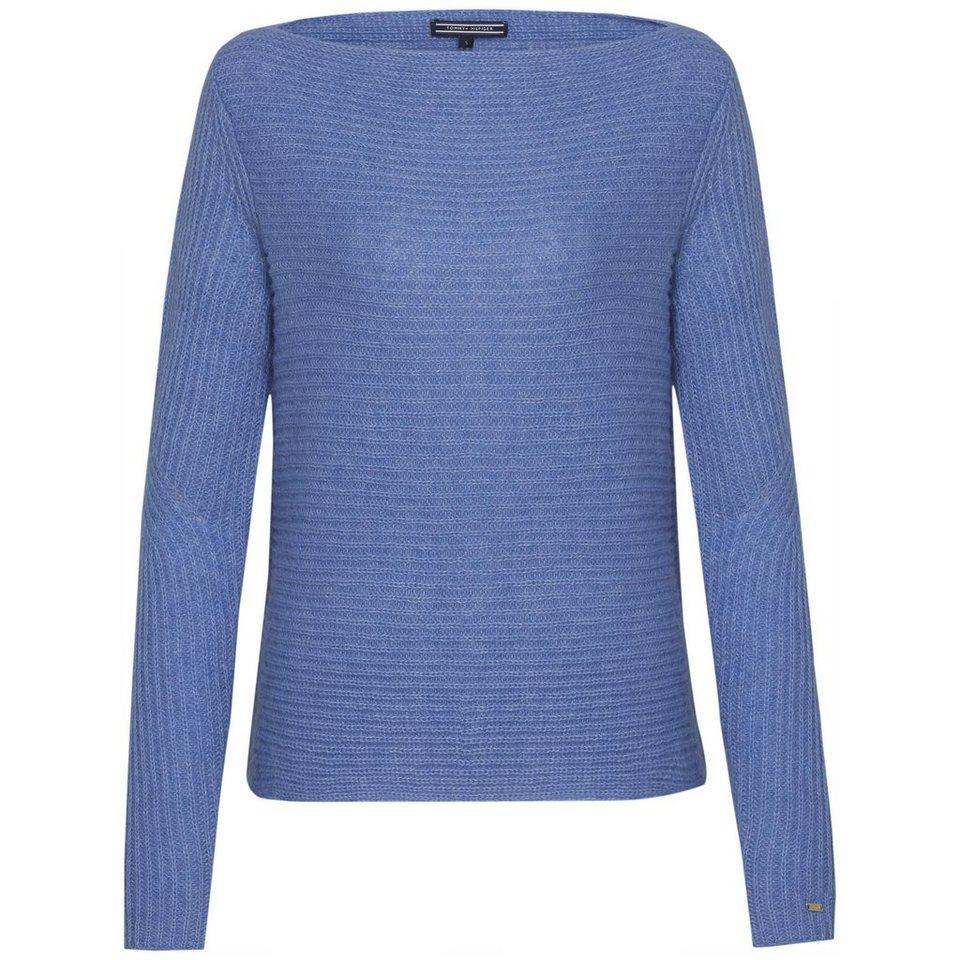 Tommy Hilfiger Pullover »JAYA BOAT-NK SWTR« in BLUE YONDER
