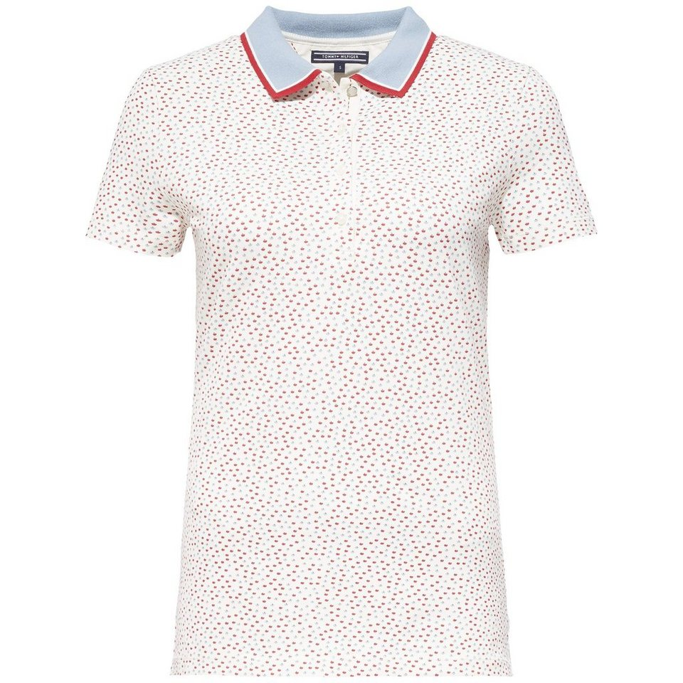 Tommy Hilfiger Poloshirt (mit Arm) »DEMI PRT POLO SS« in PATSY PRT EGGNOG