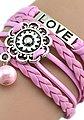 Firetti Armband »LOVE, Blume«, mit synthetischer Perle, Bild 3