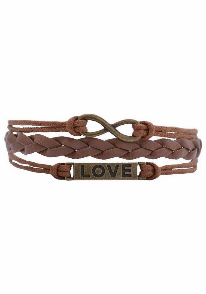 Firetti Armband »LOVE« in braun-bronzefarben
