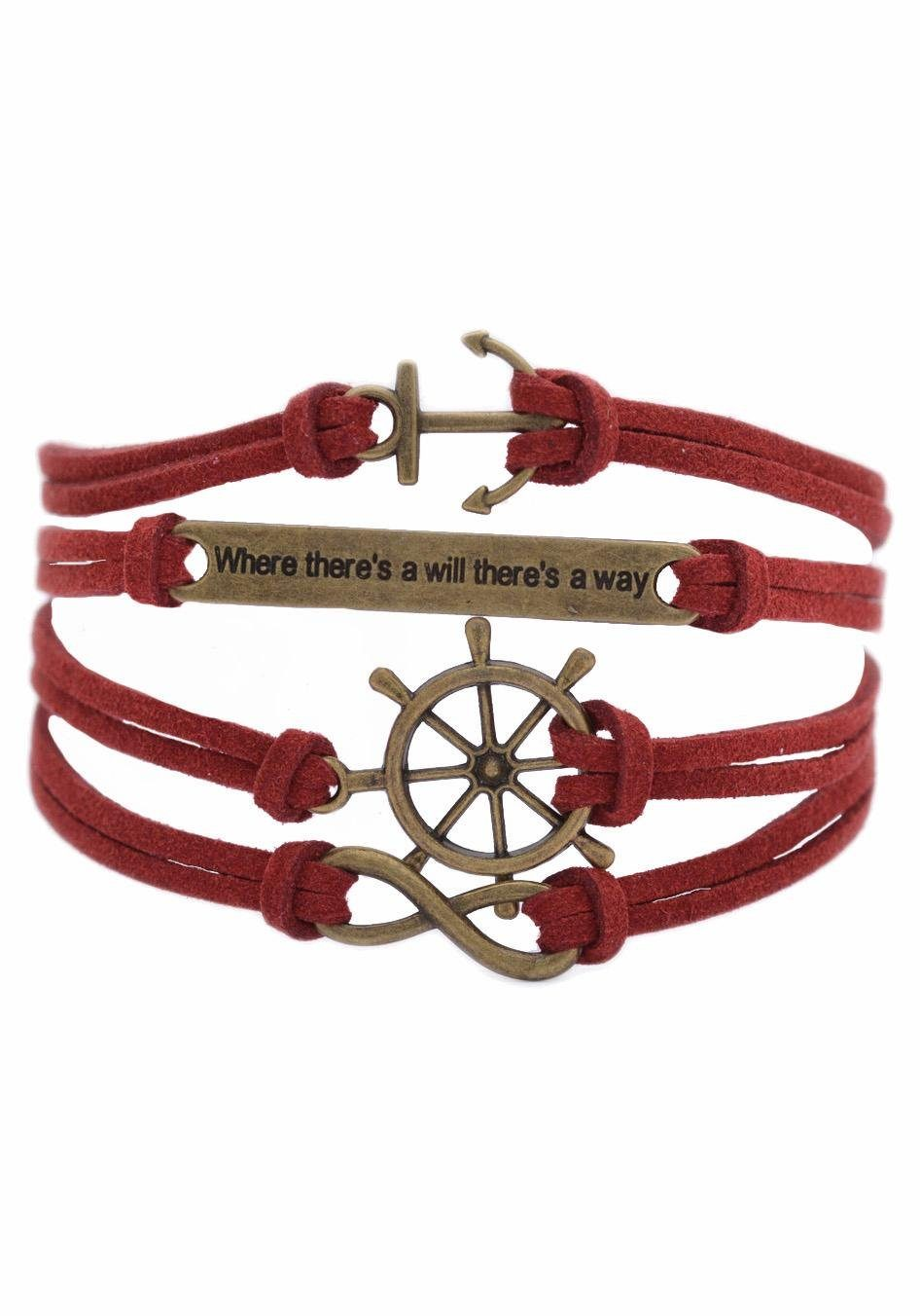 "Firetti Armband »Anker, ""Where there's will there's a way"", Steuerrad, Infinity-Unendlichkeit«"
