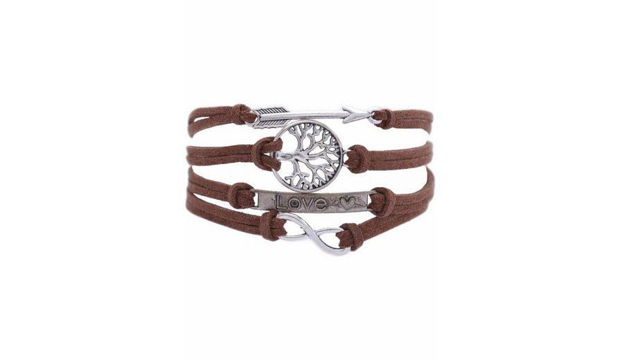 Firetti Armband »Pfeil, Lebensbaum, Love, Infinity-Unendlichkeit«