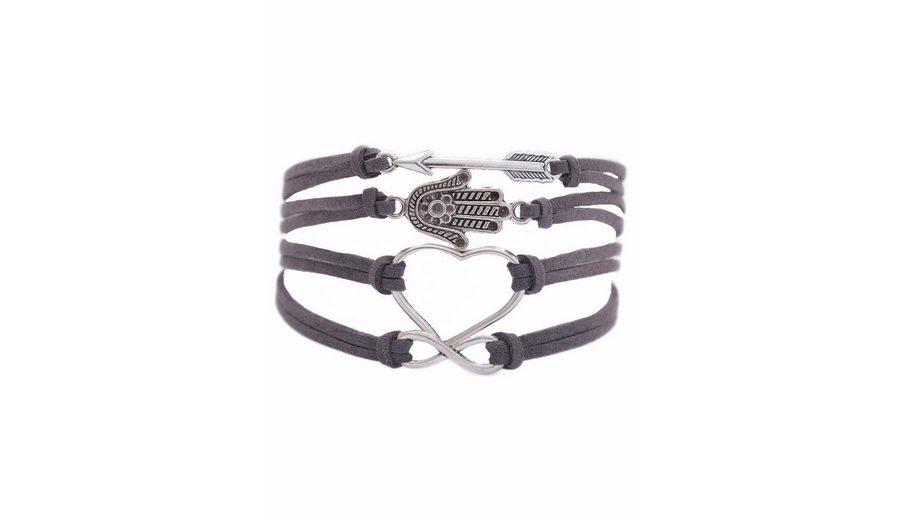 Firetti Armband »Pfeil, Hamsa Hand Fatima, Herz, Infinity-Unendlichkeit«