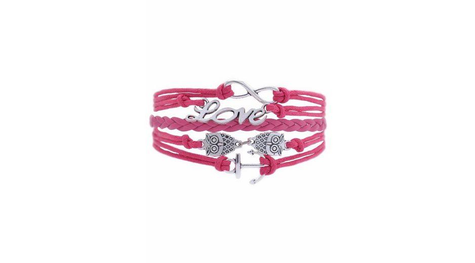 Firetti Armband »Infinity-Unendlichkeit Love Eule Anker«