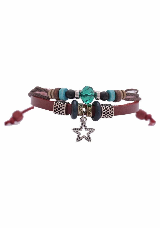 Firetti Armband »Stern« mit Glasperlen
