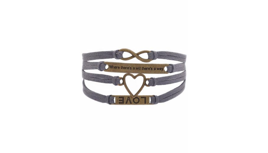"""Firetti Armband »LOVE, Herz, """"Where there's will there's a way"""", Infinity-Unendlichkeit«"""