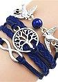 Firetti Armband »Infinity-Unendlichkeit, Lebensbaum, Schwalben«, mit synthetischer Perle, Bild 2