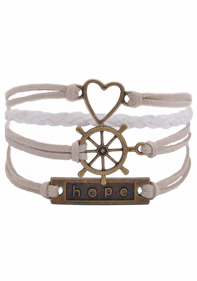 Firetti Armband »Herz, Steuerrad, hope«