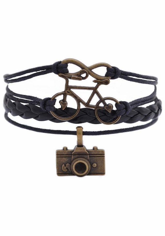 Firetti Armband »Infinity-Unendlichkeit, Fahrrad Foto« in schwarz-bronzefarben