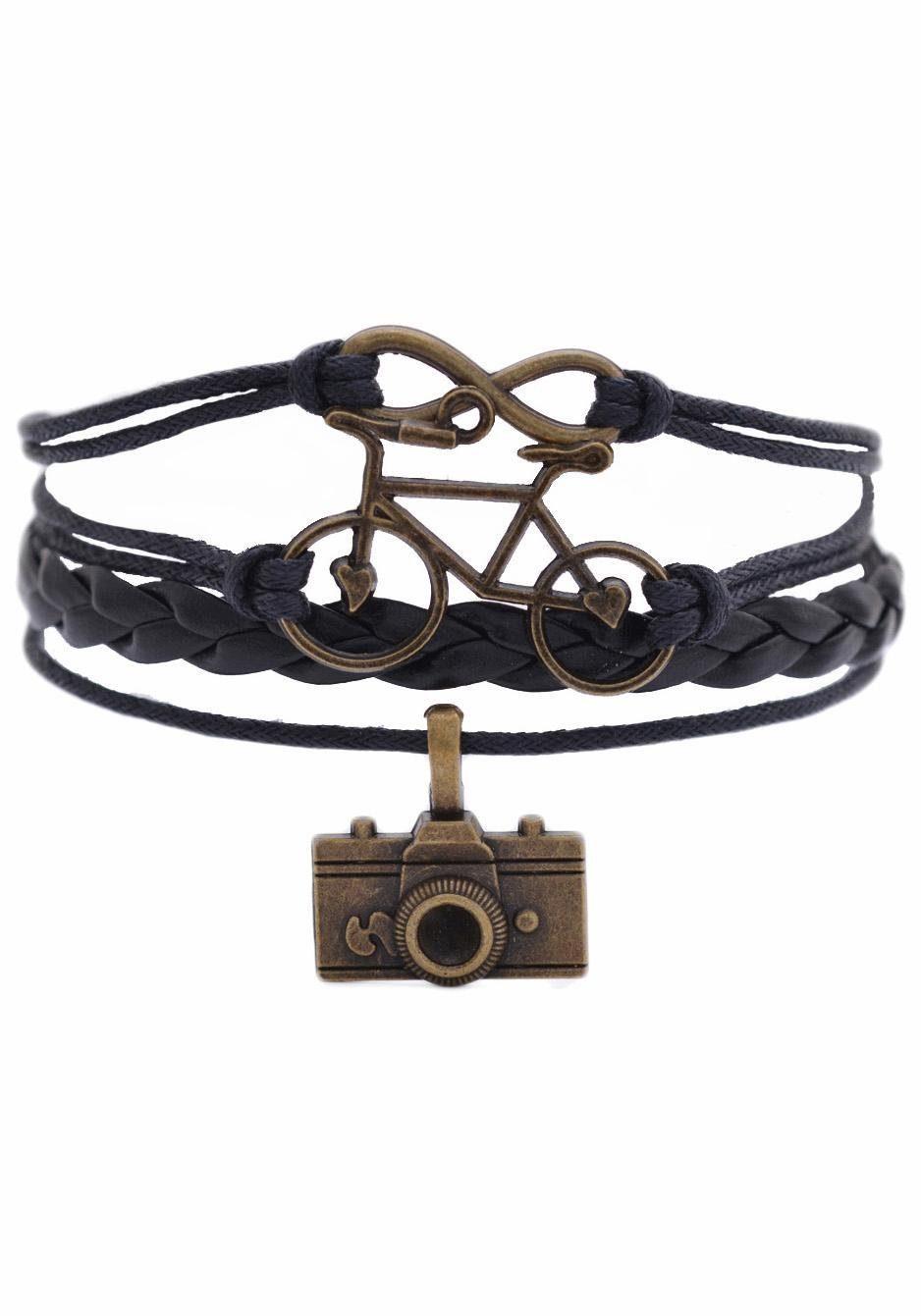 Firetti Armband »Infinity-Unendlichkeit, Fahrrad Foto«