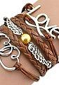 Firetti Armband »Love, Infinity-Undenlichkeit, Flügel, Herzen«, mit synthetischer Perle, Bild 3