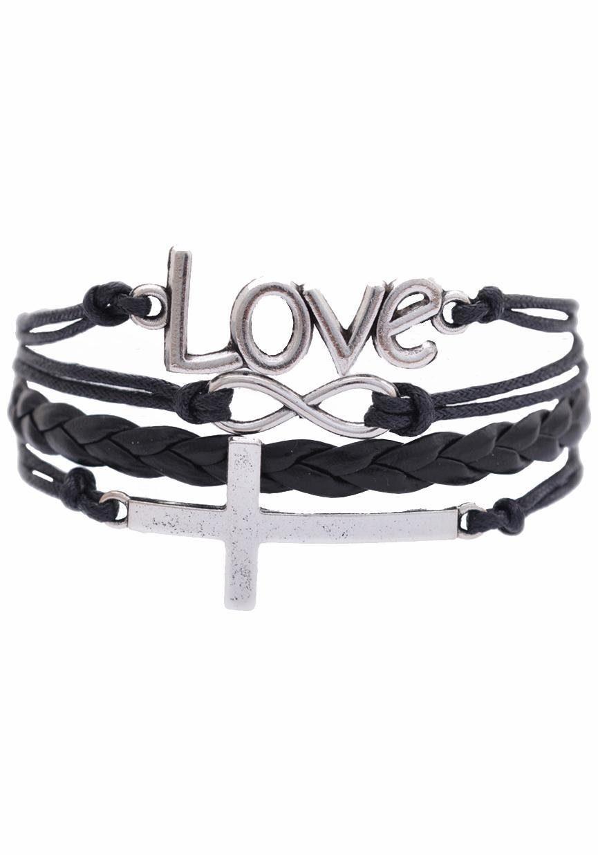 Firetti Armband »Love, Infinity-Unendlichkeit, Kreuz«
