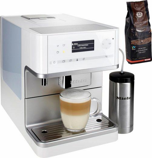 Miele Kaffeevollautomat CM 6350, lotusweiß, mit Isoliermilchbehälter