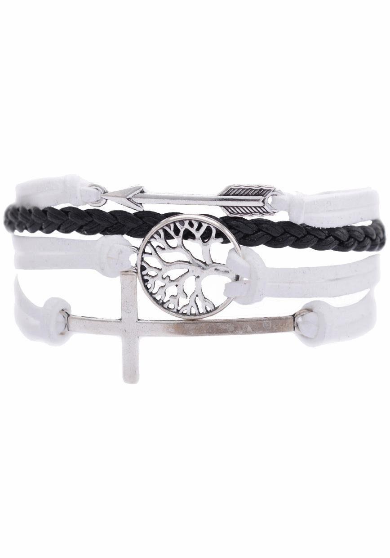 Firetti Armband »Pfeil, Lebensbaum, Kreuz«