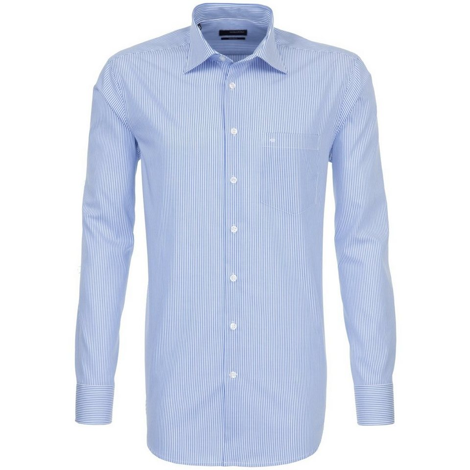 SEIDENSTICKER Businesshemd »modern« in blau-weiß-gestreift