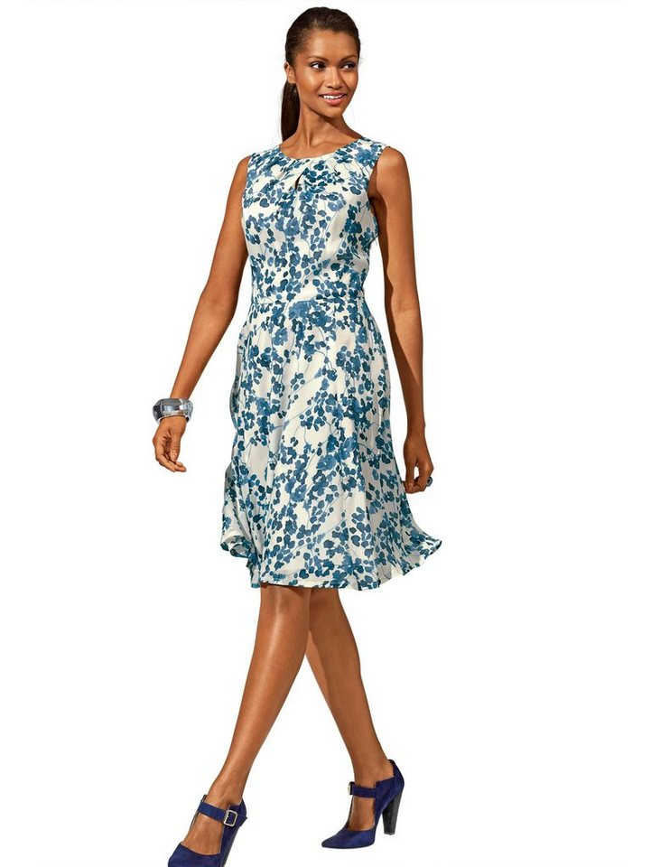 Alba Moda Kleid in offwhite/blau