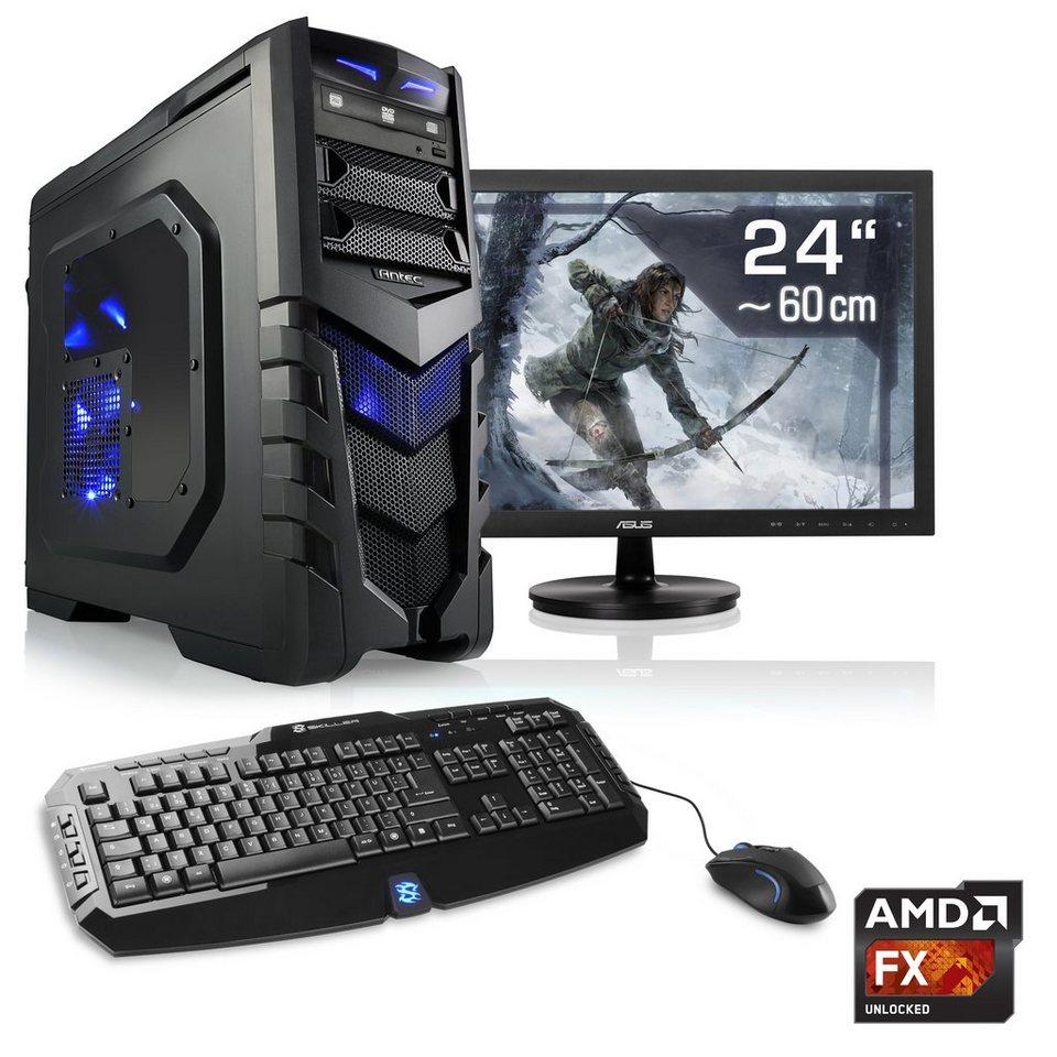 "CSL Gaming PC Set   AMD FX-8350   GTX 1060   16 GB RAM   24"" TFT »Sprint T6692 Windows 10 Home«"