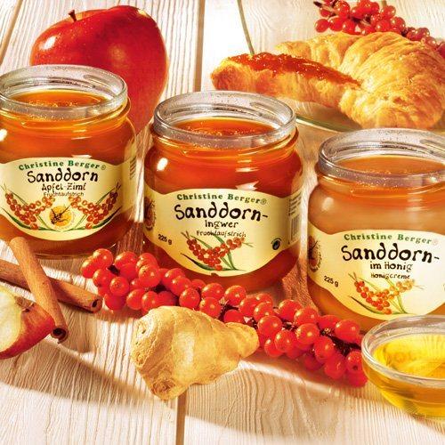 Fruchtaufstriche Sanddorn Fruchtaufstrich Sanddorn-Probierset 3 Gläser