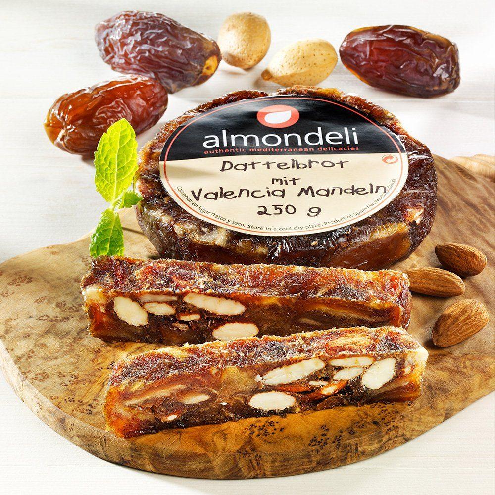 Almondeli Dattelbrot mit Valencia Mandeln