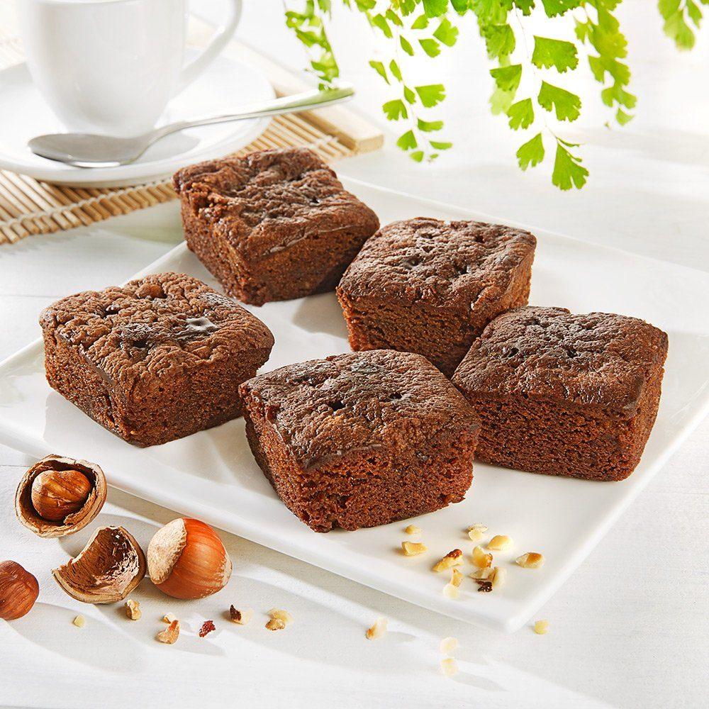 Jacquet Mini Brownies mit Haselnüssen