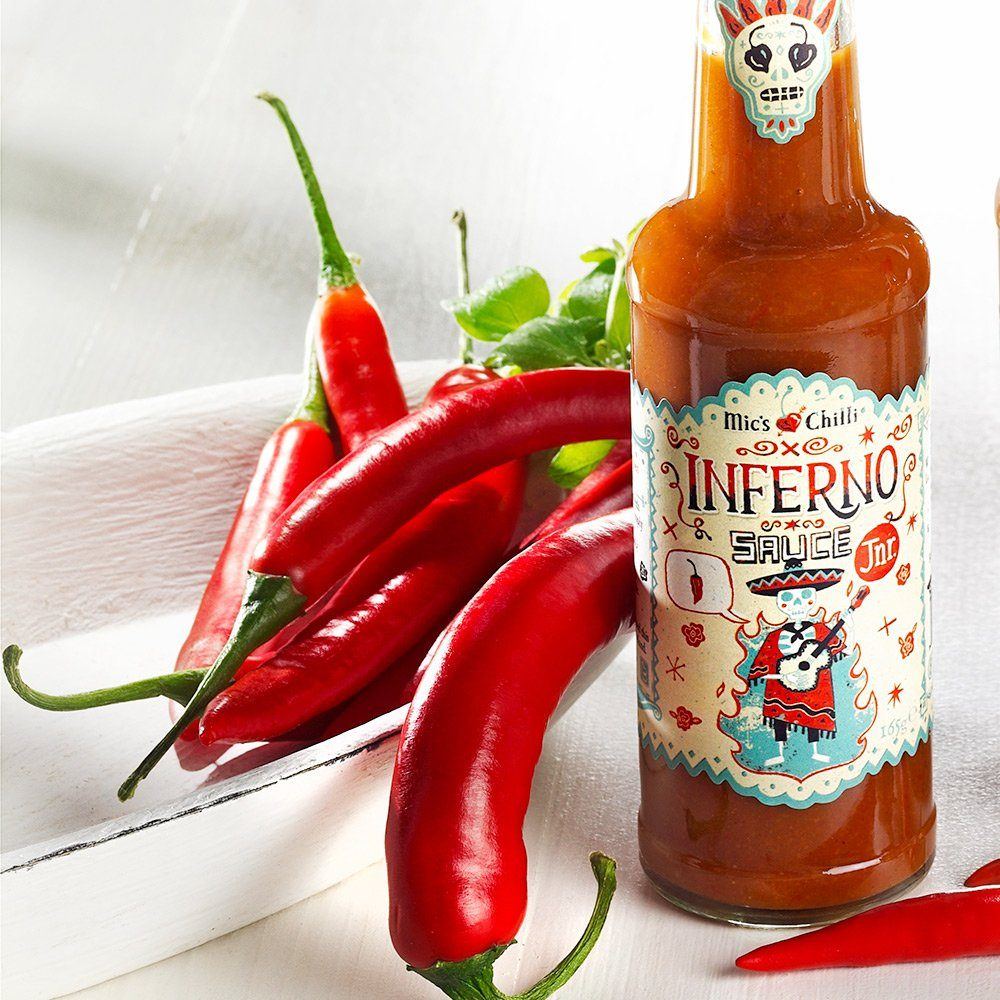 Mic's Chilli Inferno Sauce Junior - Scharfe Chilli Sauce
