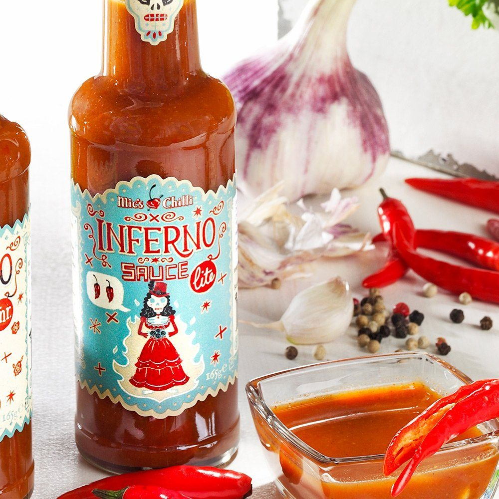 Mic's Chilli Inferno Sauce Lite - Sehr scharfe Chilli Sauce