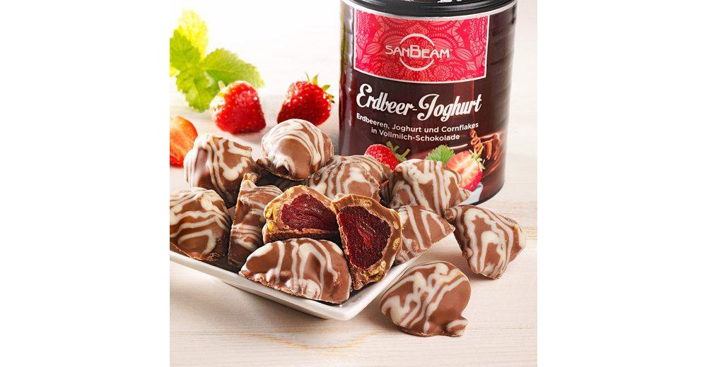 Sanbeam Schokolierte Erdbeeren mit Joghurt und Cornflakes