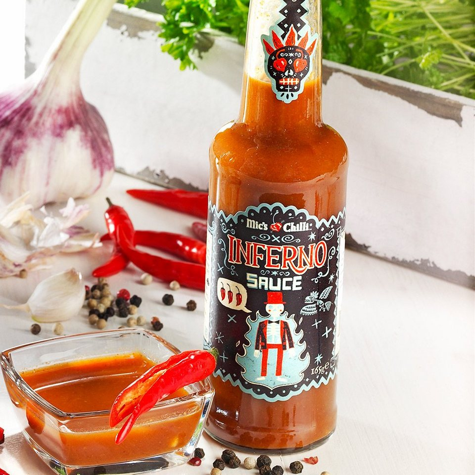 Mic's Chilli Inferno Sauce Original - Feurig scharfe Chilli Sauce