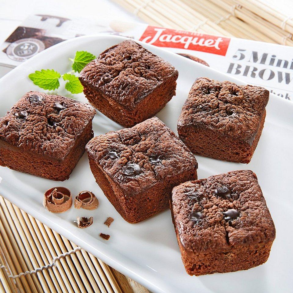 Jacquet Mini Brownies mit Schokoladenstückchen