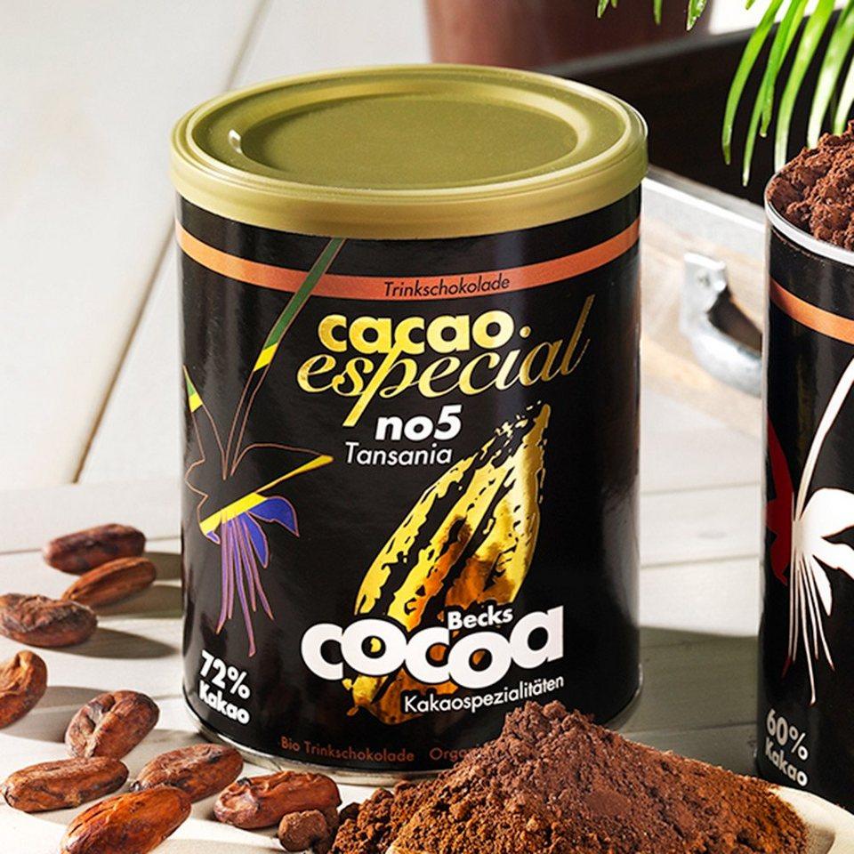 Becks Cocoa Trinkschokolade Cacao Especial No. 5 Tansania 72% Bio