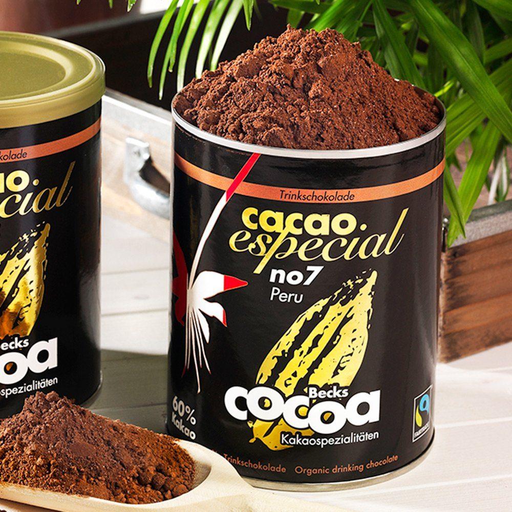 Becks Cocoa Trinkschokolade Cacao Especial No. 7 Peru 60% Bio