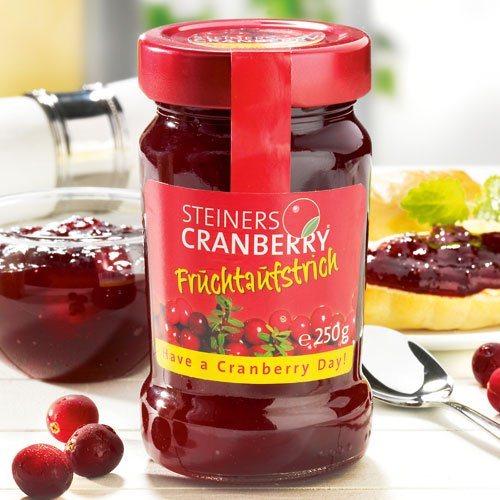 Steiners Cranberry Steiners Fruchtaufstrich Cranberry