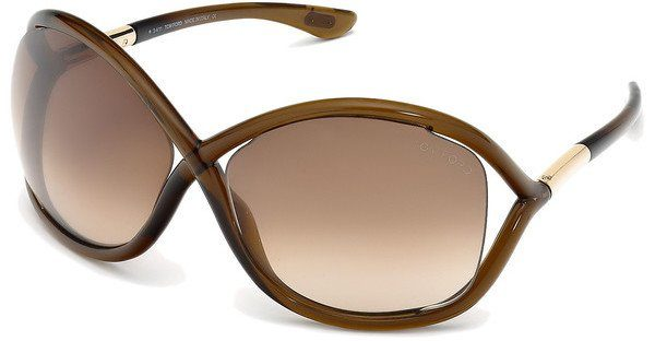 Tom Ford Damen Sonnenbrille »Whitney FT0009«, rosa, 74F - rosa/braun