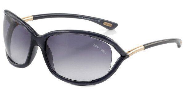 Tom Ford Damen Sonnenbrille »Jennifer FT0008«, schwarz, 01D - schwarz/grau