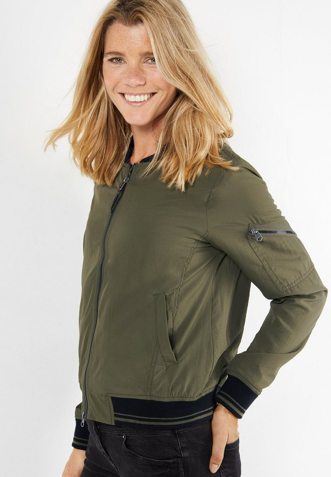 CECIL Sportiver Blouson in deep olive