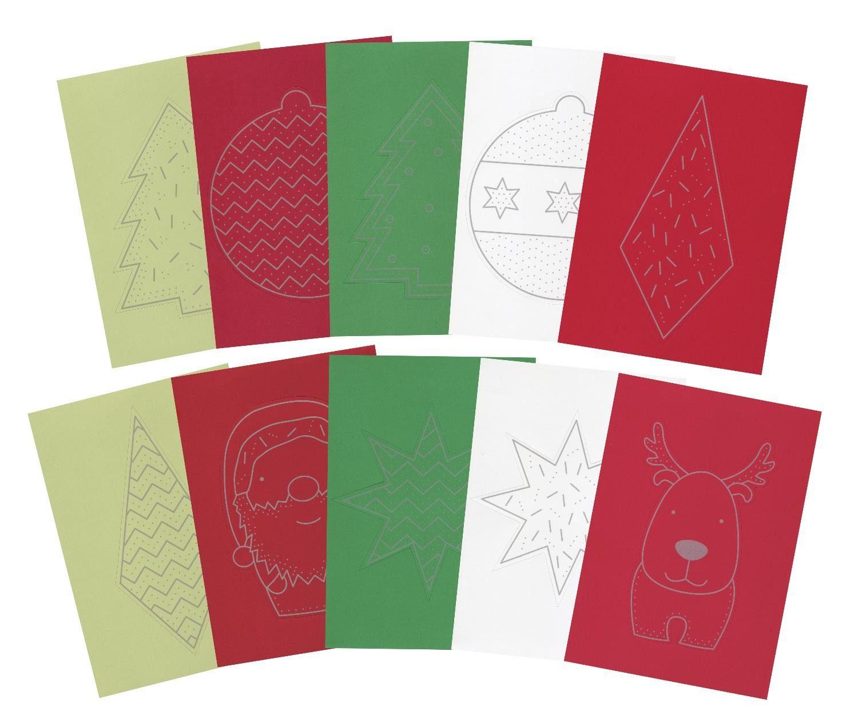 """Paper Poetry Prickelblock """"Weihnachten bunt"""" 10 Blatt"""