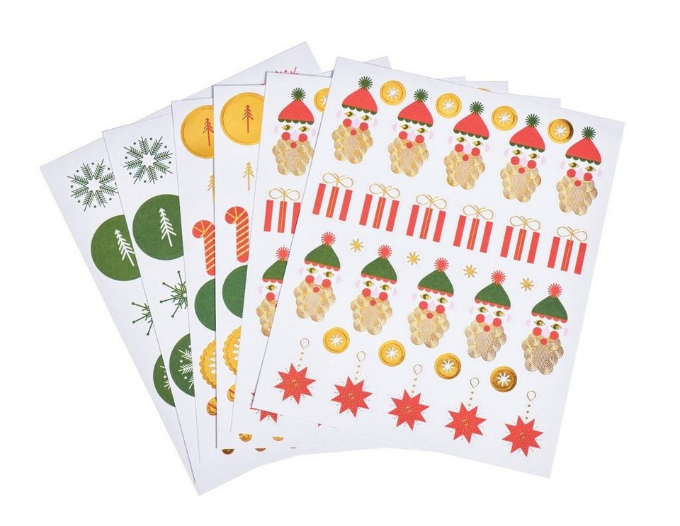 "Paper Poetry Stickerbogen ""Puristic Christmas"" 6 Blatt"