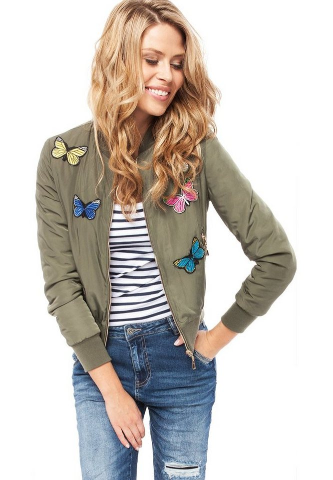 Blue Monkey Bomberjacke »N-6318« in khaki