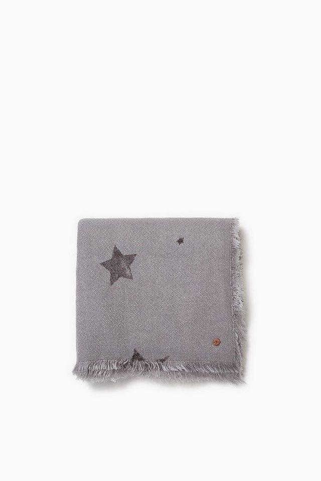 EDC Kuschelweicher Schal mit Sternen in GREY
